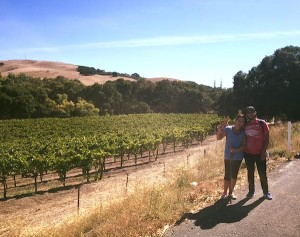 Caroline Ward Holland and Kagen Holland. Theres way too many vineyards up here!