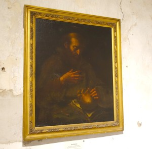 """St. Francis contemplating death"""