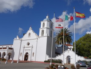 The chapel at SLR, with colonial flags flying