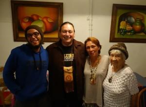 Kagen, Mel, Caroline, and Aunt Clara